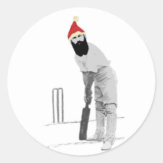 customisable cricket christmas gift ideas round sticker