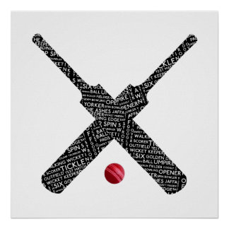 Customisable Cricket Poster