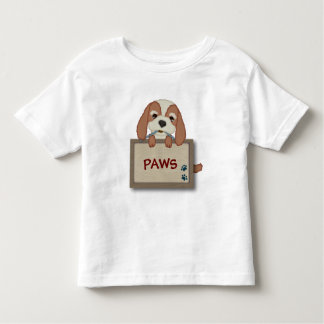 Customisable Cute Puppy Dog with Signboard Toddler T-Shirt