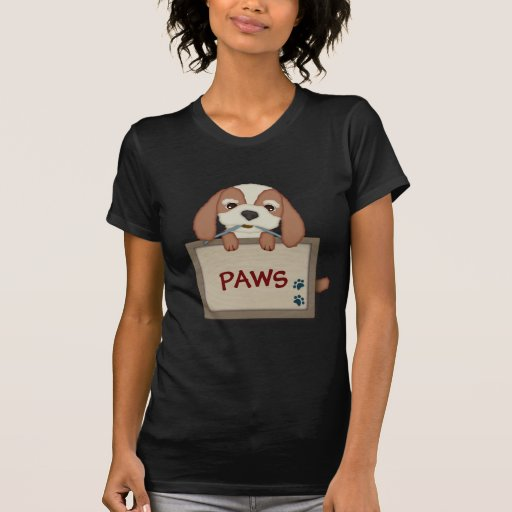 Customisable Cute Puppy Dog with Signboard T-shirts