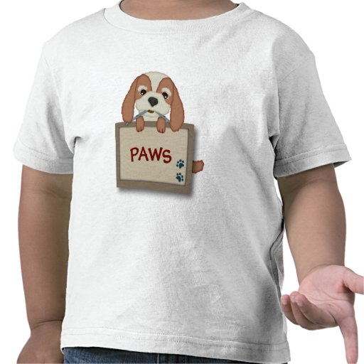 Customisable Cute Puppy Dog with Signboard Tees
