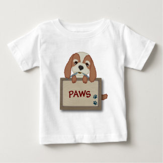 Customisable Cute Puppy Dog with Signboard Tshirts