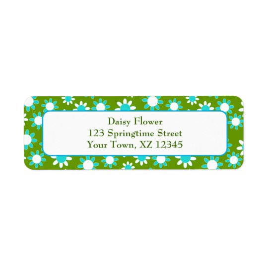 Customisable Daisies Return Address Label