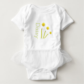 Customisable Daisy Tutu-Vest Baby Bodysuit