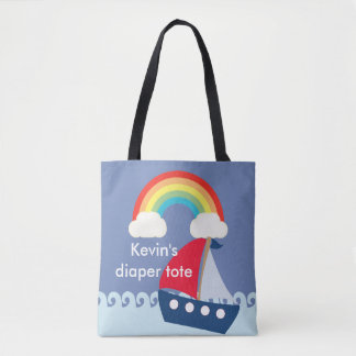 Customisable diaper tote, diaper bag with boat