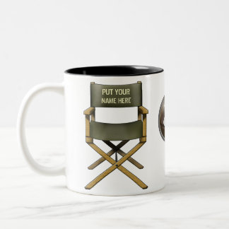 Customisable director's chair mug