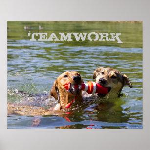 Customisable Dog Teamwork Poster