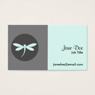 Customisable Dragonfly Colour with Grey BG Design Business Card