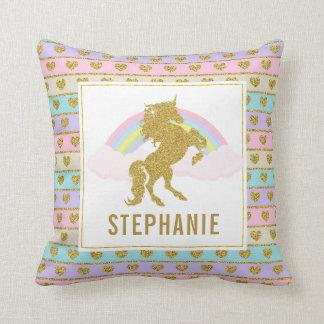 Customisable Dual Side Unicorn Throw PIllow