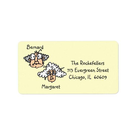 Customisable Elderly Couple Address Labels