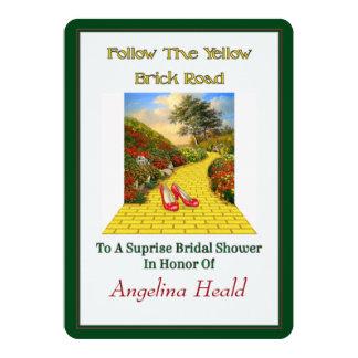 Customisable Follow Yellow Brick Road Wizard Of Oz Card