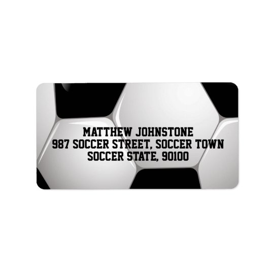 Customisable Football Soccer Ball Address Label