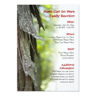 Customisable Forest Family Reunion Invitation