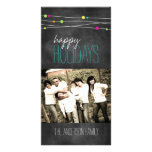 Customisable Fun Chalkboard Photo Card