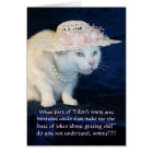 Customisable Funny Cat Birthday for Older Woman Card