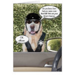 Customisable Funny Dog Motorcycle Cop Birthday