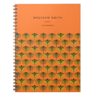 Customisable geometrical lily pattern notebook