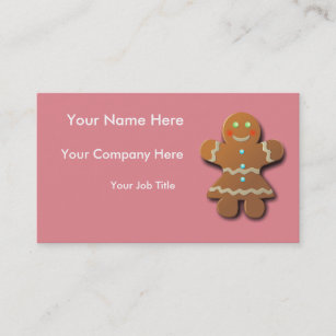 Cookies business cards zazzle au customisable gingerbread cookie business card colourmoves