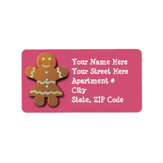 Customisable Gingerbread Cookie Label