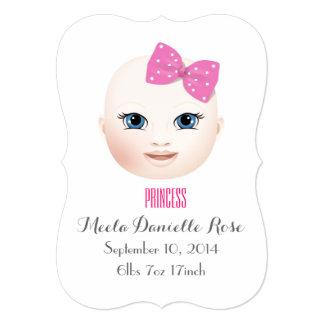 Customisable Girl/Boy 13 Cm X 18 Cm Invitation Card