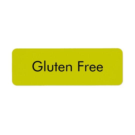 Customisable GLUTEN FREE Bakery Labels