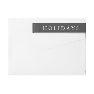 Customisable Grey Modern Christmas Envelope Label