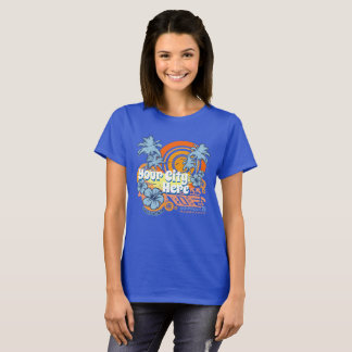 Customisable Grunge California Beach City Template T-Shirt