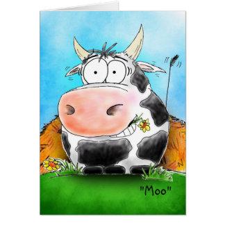 Customisable Happy Cow Happy Valentine's Day Card
