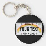 (Customisable) Hawaiian License Plate Keychain