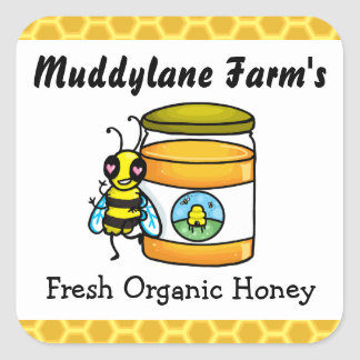 Customisable Honey jar Sticker