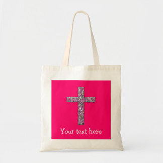 Customisable Hot Pink Cross Tote Bag