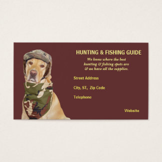 Customisable Hunting/Fishing Guide Business Card