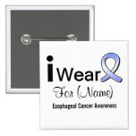 Customisable I Wear an Oesophageal Cancer Ribbon Badges