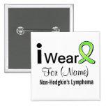 Customisable I Wear Non-Hodgkin's Lymphoma Ribbon Pin