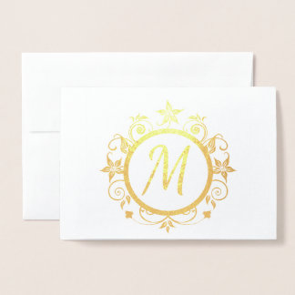 Customisable Initial Personal Stationery Foil Card