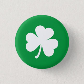 Customisable Irish Shamrock 3 Cm Round Badge