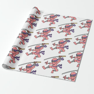 Customisable Jumping Ninja Design Wrapping Paper