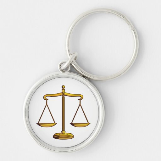 Customisable Keychain with Scales of Justice