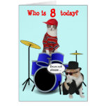 Customisable Kid's Drum Roll Birthday Greeting Card