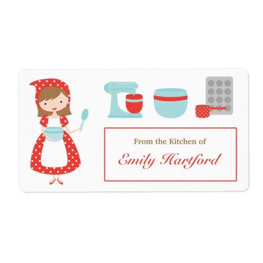 Customisable Kitchen Labels