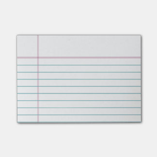 Customisable Lined Notebook Paper Sticky Notes