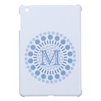 Customisable Monogram Blue Circles IPad Case