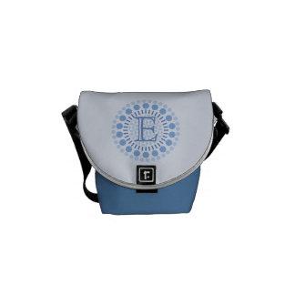 Customisable Monogram Blue Mini-Messenger Bag Courier Bags