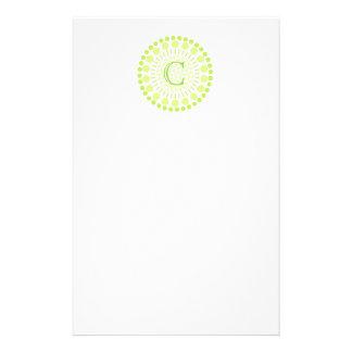 Customisable Monogram Circles Letterhead