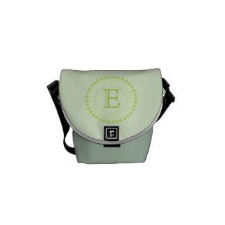 Customisable Monogram Green Mini-Messenger Bag Messenger Bag