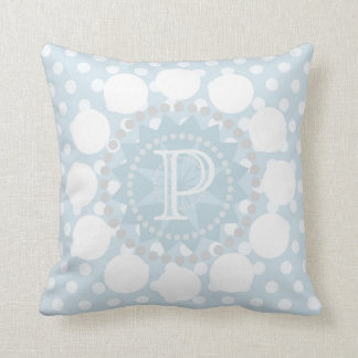 Customisable Monogram POlka Dot/Circles Cushion