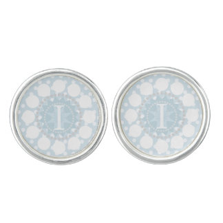 Customisable Monogram Polka Dot Round Cufflinks