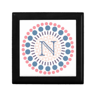 Customisable Monogram Red & Blue Circle Box