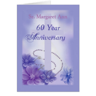 Customisable Name 60 Year Anniversary, Religious Card