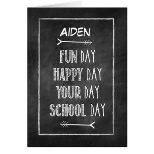 Customisable Name Chalkboard Look Back to School